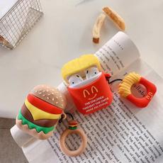 case, airpodscover, Hamburger, cute