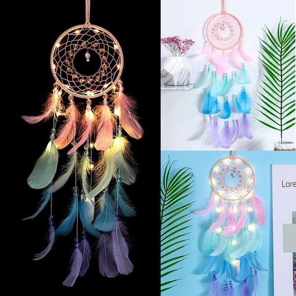 colorfulfeather, ledlightdreamcatcher, led, Colorful