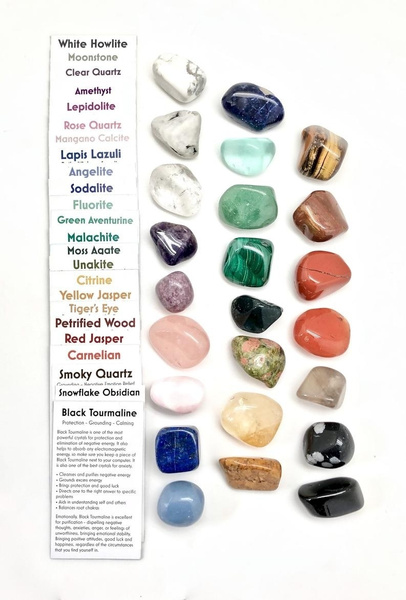 Crystal, tiffanyboxincrystal, setof7chakra, healingstone