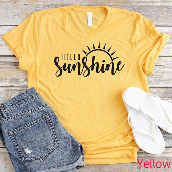 Graphic T-Shirt, letter print, Round Collar, summer t-shirts