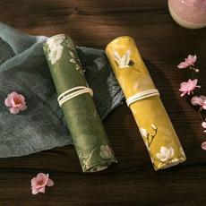 case, pencilcase, pencilbag, Flowers