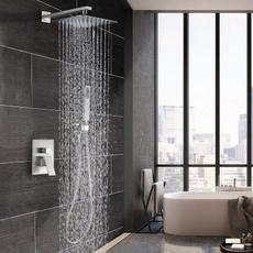 bathroomfaucet, bathtubampshowerfaucetset, mixertap, nickel