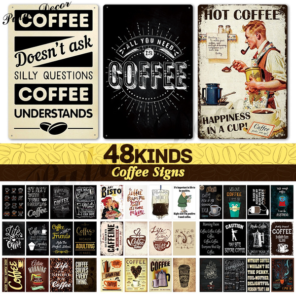 Coffee, Cafe, funnycoffeesign, cafedecor