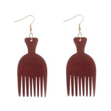party, Dangle Earring, woodenearring, earringjewelry