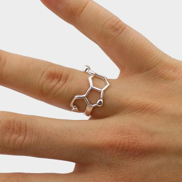serotoninjewlery, Jewelry, chemistryjewelry, sciencering