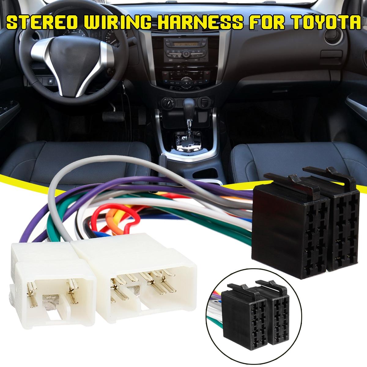 1/2x ISO Wiring Harness Stereo Radio Plug Lead Wire Loom Connector Adaptor  For Toyota | WishWish