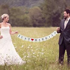 bunting, decoration, Decor, justmarriedbanner