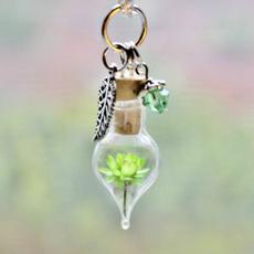 Nature, Glass, flowerpendant, birthstone