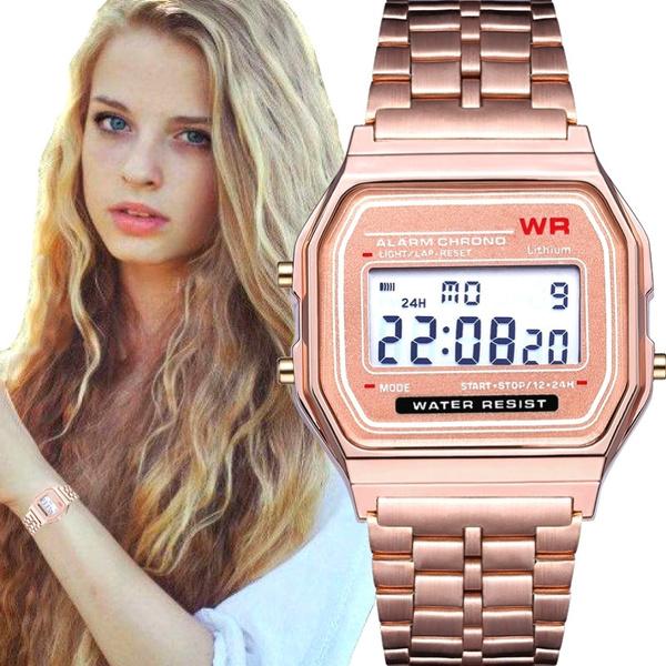 LED Watch, Steel, Fashion, led