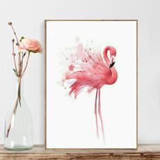 art print, homedecorpainting, Decor, flamingo