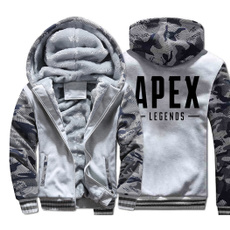 Thicken, Fleece, hooded, Winter