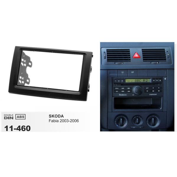 Double 2 Din Car Radio Fascia For Skoda Fabia 03 06 Stereo Dashboard Panel Mount Frame Kit Adapter Trim Bezel Wish