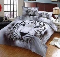 Polyester, Set, duvet, Leopard