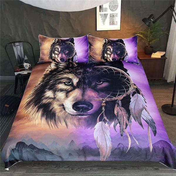 New Bedding 3d Set Wolf, King Size Bedding Set
