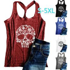 Summer, Vest, Plus Size, Skeleton