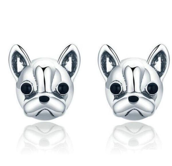 Stud Earring, Silver Jewelry, Jewelry, bulldogearring