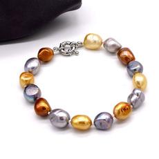 Beaded Bracelets, baroquepearl, Colored, Jewelry