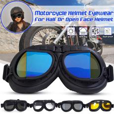 Helmet, Goggles, motorcycle helmet, Vintage