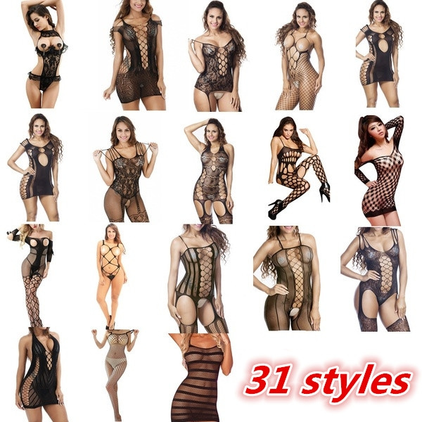 Open Crotch, nightwear, Lace, bodystocking