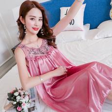sexy sleepwear dress, Summer, silk, Lace