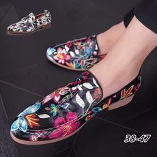 mensdressshoe, floralprintshoe, Floral print, mensleatherslipon