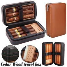 Box, travelportableleather, cigarhumidor, fathersgift