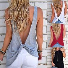 blouse, backlessshirt, backless tank tops, Shirt