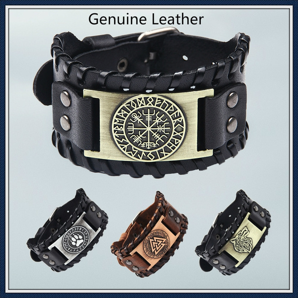 wristbandbracelet, men accessories, punk, genuine leather