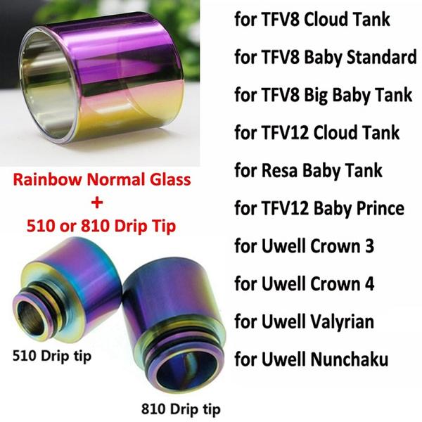tfv8rainbowglasstube, rainbow, Tank, tfv12rainbowglasstube
