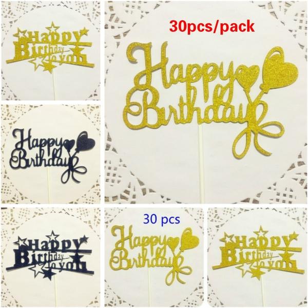 cakeflag, happybirthdaycaketopper, Jewelry, gold