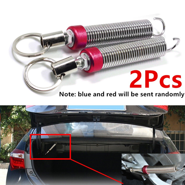 uxcell 2pcs Red Silver Tone Flexible Adjustable Automatic Car Trunk Boot Lid Lifting Spring Device
