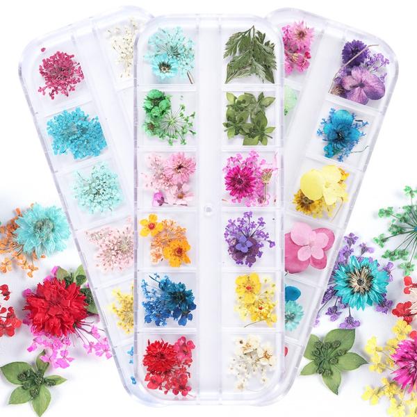 nail decoration, Nails, Flowers, driedflowersnailart