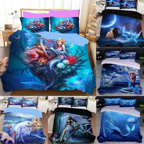 beddingforgirl, twinbedset, Bedding, mermaidbeddingset