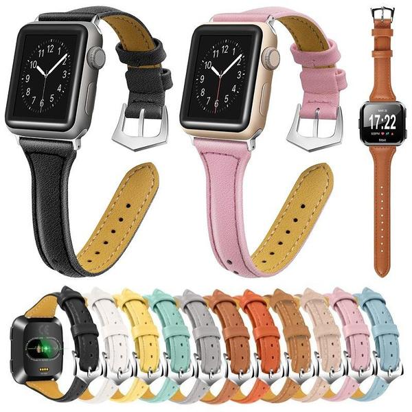 fitbitversaleatherwatchband, leatherwristbandsforfitbitversa, Wristbands, applewatch40mmleatherstrap