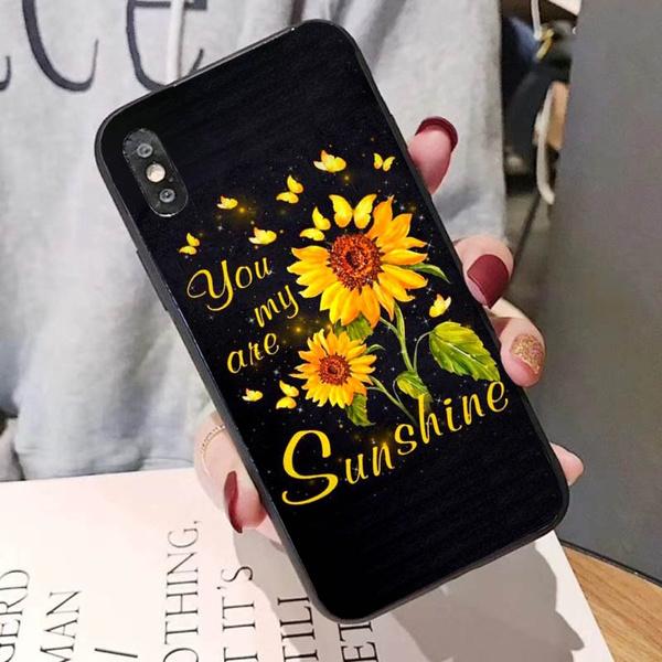 case, samsungs10case, iphone, Sunflowers