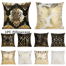 Home Decor, gold, Pillowcases, Throw Pillow case