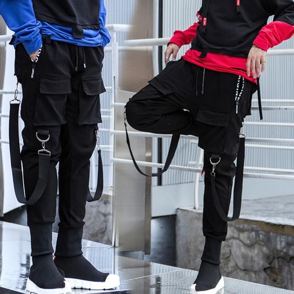 Jogger Pants Men New Fashion Streetwear Joggers Pantaloni Uomo Pantalones De Hombre Men Black Harem Pants Multi Pocket Hip Hop Mens Sweatpants Wish