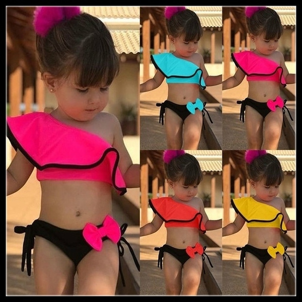 Girls Bathing Suits Kids Cute Bikini Set Two Piece Beach Swimwear Child Swimsuit