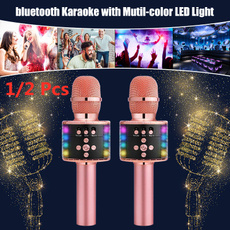 handheldmicrophone, bluetoothmicrophone, Microphone, led