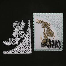 Craft, flowercornermetalcuttingdie, stencil, Scrapbooking