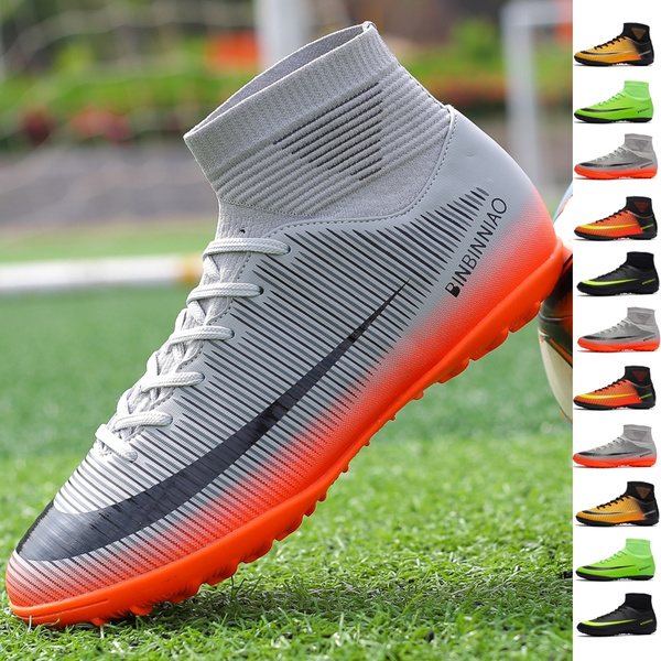 suidingbai,6 RLJWI Soccer Shoes Adult Kids Soccer Shoes Cleats Boot Shoe Football Sneakers