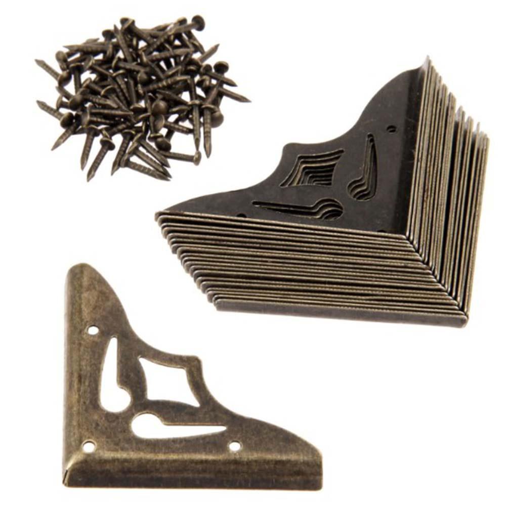 Antique Furniture Metal Crafts Jewelry Box Corner Foot Wooden Case Protector DIY