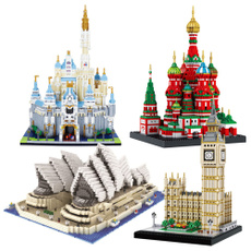 Mini, landmarkbuildingmodel, Toy, Educational Toy