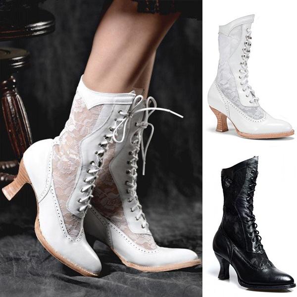 Lace Granny Boots Vintage wedding shoes