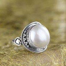 Sterling, party, pearl jewelry, Fashion