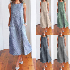 sleeveless, Necks, long dress, Tunic dress