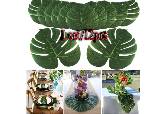 12pcs Artificial Leaf Tropical Palm Leaves Simulation Leaf For Hawaiian Luau Theme Party Decorations Home Garden Decoration Wish Find over 100+ of the best free tropical leaves images. wish