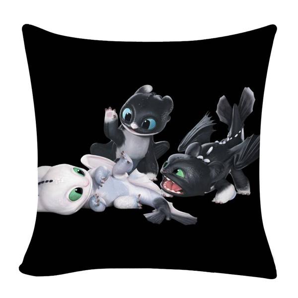 whitedragon, Pillowcases, blackdragon, noteeth