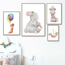 kids, Flowers, art, canvaspainting