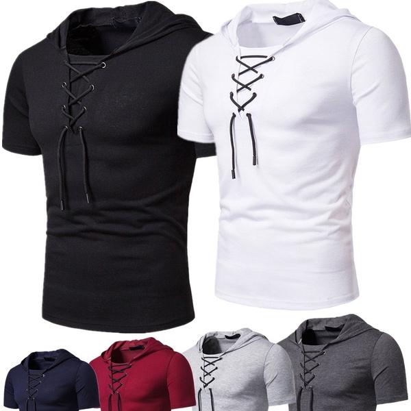 Summer, Fashion, hooded, Shirt